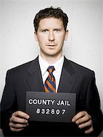 Mug shot of businessman Stock Photo - Premium Royalty-Freenull, Code: 640-02770784