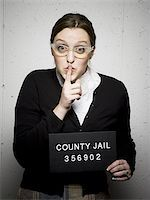 Mug shot of librarian Stock Photo - Premium Royalty-Freenull, Code: 640-02770802