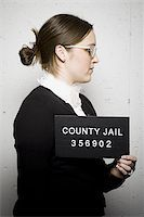Mug shot of librarian Stock Photo - Premium Royalty-Freenull, Code: 640-02770803