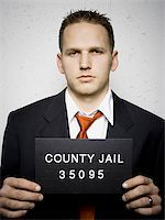 Mug shot of businessman Stock Photo - Premium Royalty-Freenull, Code: 640-02771002