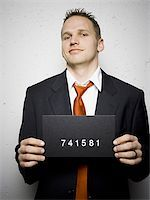 Mug shot of businessman Stock Photo - Premium Royalty-Freenull, Code: 640-02771003