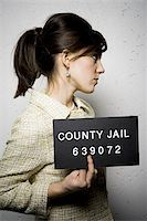 Mug shot of formally dressed woman Stock Photo - Premium Royalty-Freenull, Code: 640-02771007