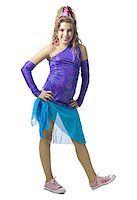 female white background full body - Girl in costume posing Stock Photo - Premium Royalty-Freenull, Code: 640-02771325
