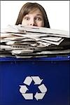 businessperson holding a recycling bin Stock Photo - Premium Royalty-Freenull, Code: 640-02778413