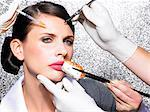 Cosmetic surgery in your lunch hour    Stock Photo - Premium Rights-Managed, Artist: urbanlip.com, Code: 847-02781146