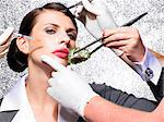 Cosmetic surgery in your lunch hour    Stock Photo - Premium Rights-Managed, Artist: urbanlip.com, Code: 847-02781149