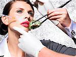 Cosmetic surgery in your lunch hour    Stock Photo - Premium Rights-Managed, Artist: urbanlip.com, Code: 847-02781150