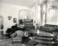 retro beauty salon images - 1920s INTERIOR UPSCALE MUSIC ROOM WITH PIANO AND ORGAN    Stock Photo - Premium Rights-Managednull, Code: 846-02791867
