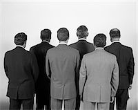1960s BACK-VIEW OF SIX BUSINESS MEN    Stock Photo - Premium Rights-Managednull, Code: 846-02792188