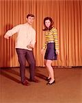 1960s TEENAGE COUPLE DANCING