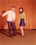 1960s TEENAGE COUPLE DANCING