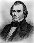 PORTRAIT ANDREW JOHNSON 1808 - 1875 17th AMERICAN PRESIDENT AFTER LINCOLN ASSASSINATION IMPEACHED AND ACQUITTED