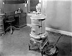 1890s COAL STOVE HEATER IN BUSINESS OFFICE