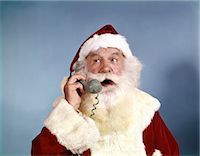 1960s SANTA CLAUS TALKING ON TELEPHONE    Stock Photo - Premium Rights-Managednull, Code: 846-02795291