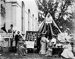 TINTYPE BOOTH AT COUNTY FAIR IN VA MAY 1903 PHOTOGRAPHY TRAVELING SALESMAN TENT SIGN DISPLAY