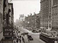 restaurant new york manhattan - 1930's OVERHEAD SIXTH AVENUE, HIPPODROME THEATRE CAR and PEDESTRIAN TRAFFIC WORKERS DIGGING SUBWAY TIMES SQUARE CAR & PEDESTRIAN TRAFFIC WORKERS DIGGING SUBWAY Stock Photo - Premium Rights-Managednull, Code: 846-02796373