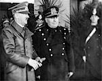 MAY 1939 ADOLPH HITLER AND BENITO MUSSOLINI DURING HITLER'S VISIT TO ITALY