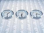 Time zone clocks on list of share prices Stock Photo - Premium Royalty-Freenull, Code: 635-02800474