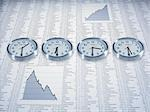 Time zone clocks on list of share prices Stock Photo - Premium Royalty-Free, Artist: Ikon Images, Code: 635-02800475