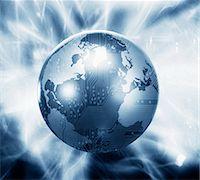 Glowing globe with microchip overlay Stock Photo - Premium Royalty-Freenull, Code: 635-02800541