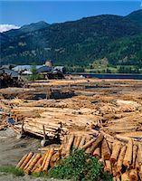 Lumber mill near Chase, British Columbia, Canada, North America    Stock Photo - Premium Rights-Managednull, Code: 841-02824660