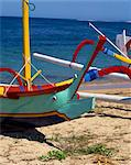Close-up of the prow of an outrigger fishing boat on Sanur beach, Bali, Indonesia, Asia    Stock Photo - Premium Rights-Managed, Artist: Robert Harding Images, Code: 841-02824802