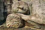 Statue of the reclining Buddha, attaining nirvana, Gal Vihara, Polonnaruwa, Sri Lanka    Stock Photo - Premium Rights-Managed, Artist: Robert Harding Images, Code: 841-02825884