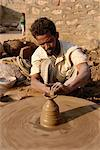 Potter and wheel in village near Jodhpur, Rajasthan state, India, Asia    Stock Photo - Premium Rights-Managed, Artist: Robert Harding Images, Code: 841-02826310