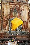 Sitting Buddha Statue, Mahathat Temple, Ayutthaya Historical Park, Ayutthaya, Thailand    Stock Photo - Premium Rights-Managed, Artist: dk & dennie cody, Code: 700-02828375