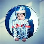 Boy Dressed as Astronaut    Stock Photo - Premium Royalty-Free, Artist: Matt Brasier, Code: 600-02828433