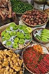 Close-up of Vegetable Vendor, Street Scene, Hanoi, Vietnam