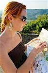 Woman Reading Map, Cortona, Province of Arezzo, Tuscany, Italy Stock Photo - Premium Royalty-Free, Artist: Chris Hendrickson, Code: 600-02828556