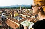 Woman Reading Map, Lucca, Lucca Province, Tuscany, Italy Stock Photo - Premium Royalty-Free, Artist: Chris Hendrickson, Code: 600-02828569