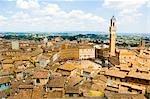 Piazza Del Campo, Siena, Siena Province, Tuscany, Italy