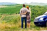 Back View of Couple Looking at Vineyard in Chianti, Tuscany, Italy    Stock Photo - Premium Rights-Managed, Artist: Chris Hendrickson, Code: 700-02828624