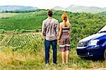 Back View of Couple Looking at Vineyard in Chianti, Tuscany, Italy    Stock Photo - Premium Rights-Managed, Artist: Chris Hendrickson, Code: 700-02828625