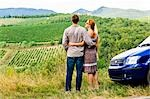 Back View of Couple Looking at Vineyard in Chianti, Tuscany, Italy    Stock Photo - Premium Rights-Managed, Artist: Chris Hendrickson, Code: 700-02828626