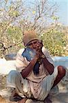 Man smoking drugs, near Deogarh, Rajasthan state, India, Asia    Stock Photo - Premium Rights-Managed, Artist: Robert Harding Images, Code: 841-02830731