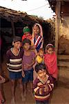 Family in village, Dhariyawad, Rajasthan state, India, Asia