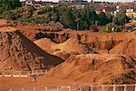 Woodchip stockpile for export to Japan, Puerto Montt, Chile, South America    Stock Photo - Premium Rights-Managed, Artist: Robert Harding Images, Code: 841-02831610