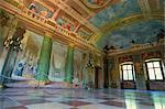 Illusionist frescoes by Donato Mascagni in interior hall, Schloss Hellbrunn, near Salzburg, Austria, Europe    Stock Photo - Premium Rights-Managed, Artist: Robert Harding Images, Code: 841-02831842