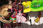 Hats and doll souvenirs for sale, St. Lucia, Windward Islands, West Indies, Caribbean, Central America