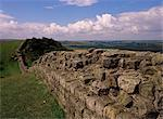 Looking west along Hadrian's Wall, UNESCO World Heritage site, near Greenhead, Cumbria, England, United Kingdom, Europe    Stock Photo - Premium Rights-Managed, Artist: Robert Harding Images, Code: 841-02832397