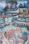 18th century murals inside Lai Kham viharn, Wat Phra Singh temple complex, Chiang Mai, Thailand, Southeast Asia, Asia    Stock Photo - Premium Rights-Managed, Artist: Robert Harding Images, Code: 841-02832615