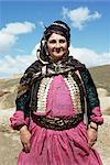 Portrait of a Kurdish woman, Iran, Middle East