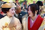 Women wearing traditional Heian period dress, Kyoto, Japan, Asia    Stock Photo - Premium Rights-Managed, Artist: Robert Harding Images, Code: 841-02832878