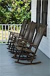 Rocking Chairs on the Porch of the Eldora State House, Eldora, Canaveral National Seashore, Florida, USA    Stock Photo - Premium Rights-Managed, Artist: Elke Esser, Code: 700-02832961