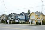 Row of Houses with Foreclosure Signs Stock Photo - Premium Rights-Managed, Artist: Dave Robertson, Code: 700-02833194