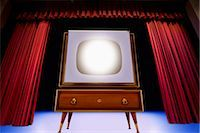 Vintage TV on Theatre Stage Stock Photo - Premium Rights-Managednull, Code: 700-02833196