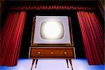 Vintage TV on Theatre Stage Stock Photo - Premium Rights-Managed, Artist: Ken Davies, Code: 700-02833196